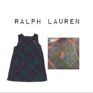 Ralph Lauren Plaid Fleece Dress